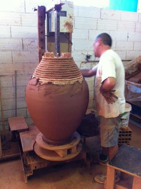 how large garden pots are made in France... could this be done at home???