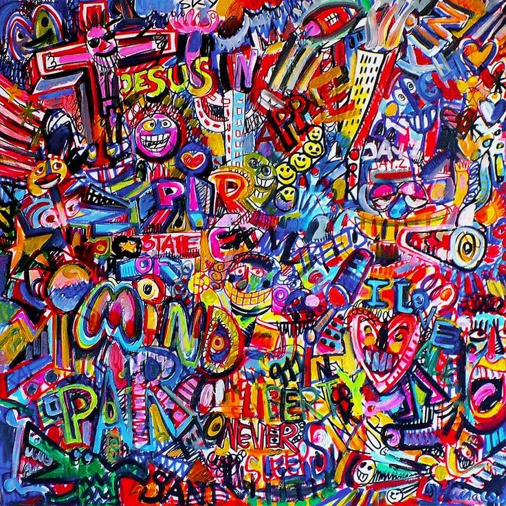 NEW YORK NEW YORK !  Acrylic on canvas  80X80cm