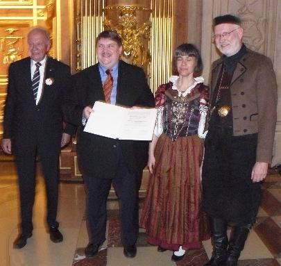 Sudetendeutscher Volkstumspreis für Gerhard und Andrea Ehrlich und ihre Egerländer Bauernmusik Bojaz