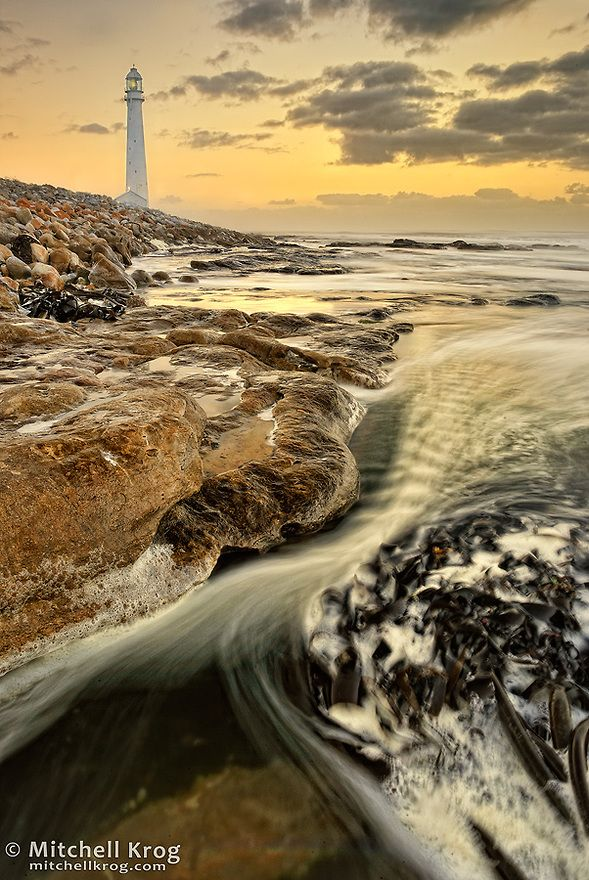 Kommetjie Lighthouse Slangkoppunt in Cape Town, South Africa at Sunset http://www.travelandtransitions.com/destinations/destination-advice/africa/cape-town-travel-things-todo/