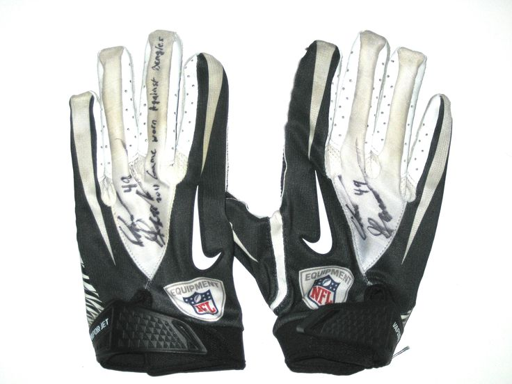 Chris Gronkowski Indianapolis Colts Game Worn & Signed Nike Gloves (Worn Vs Bengals)