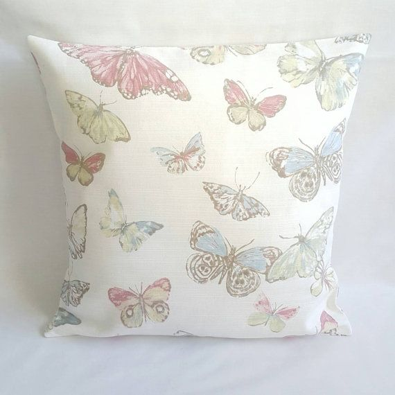 Pastel Butterfly Cushion Cover Country Cottage Cushion