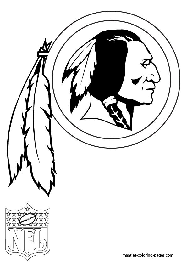 coloring pages of nfl logos - photo#22
