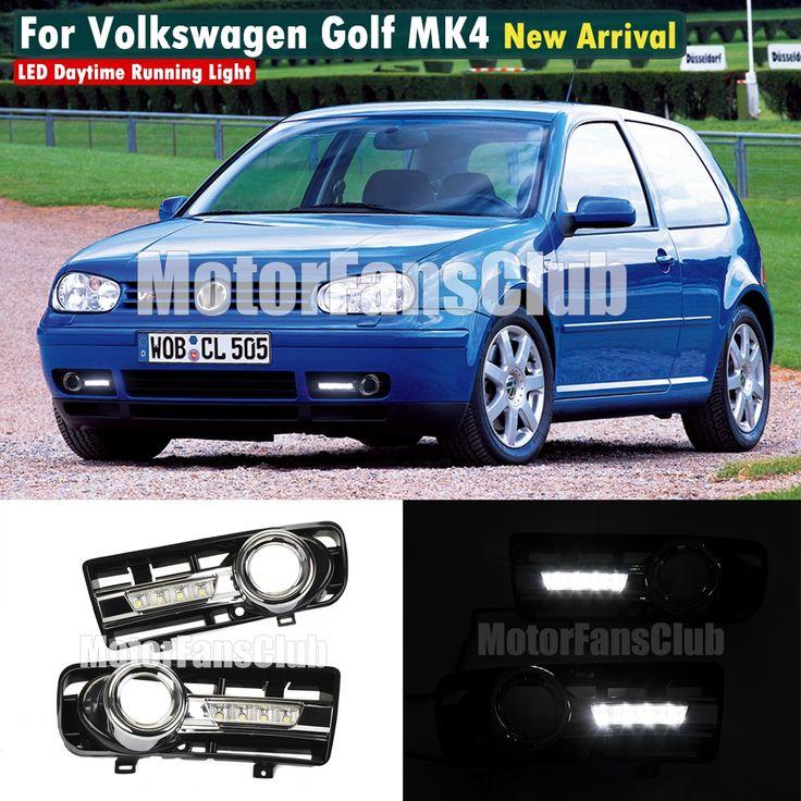 121.51$  Buy here - http://airsq.worlditems.win/all/product.php?id=32801228161 - MOTORFANSCLUB  LED Daytime Running Light For VW Volkswagen Golf MK4 IV Jetta DRL Fog 1997 1998 1999 2001 2002 2003 2004 2005