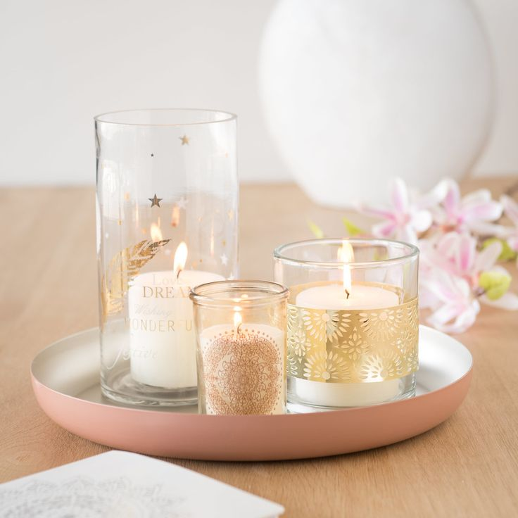Relax in bohemian style at home blush pink metal tray maisons du monde