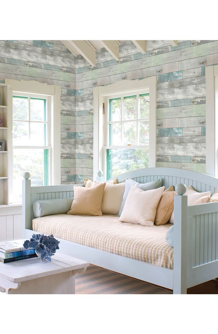 Free shipping and returns on Wallpops 'White Wood' Prepasted Wallpaper at Nordstrom.com. Planks of photorealistic distressed wood lend weathered and rustic beauty to stylish wallpaper in coastal-inspired hues.