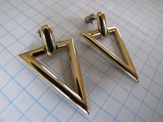 Vintage Retro Totally Rad 1980's Gold Tone by themagickcat on Etsy