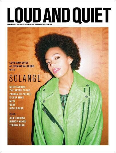 Makeup for Solange Knowles covershoot  Loud and Quiet magazine '13  photo ©Laura Coulson
