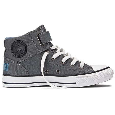 grey high top converse