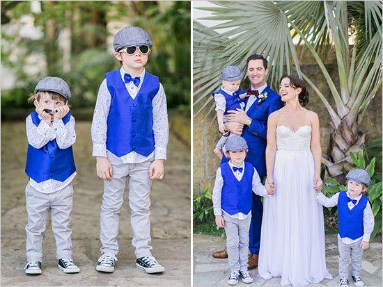 royal blue and grey ring bearers @weddingchicks