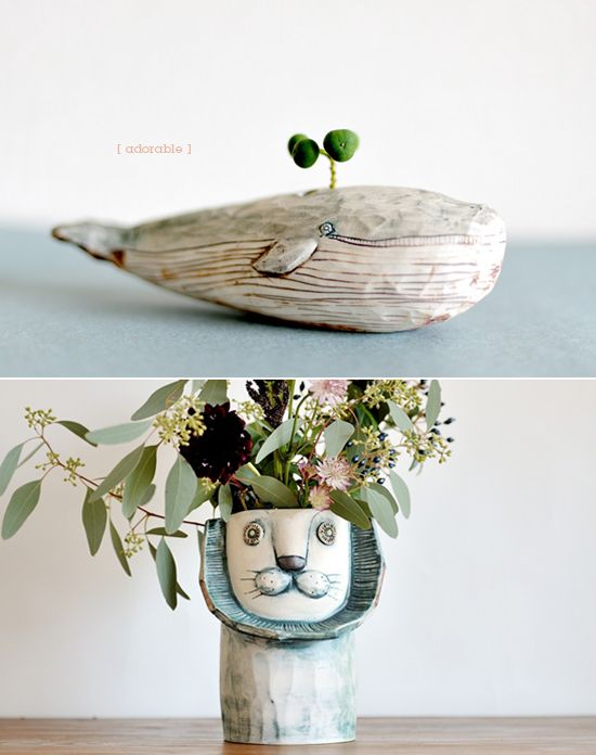 quirky planters.