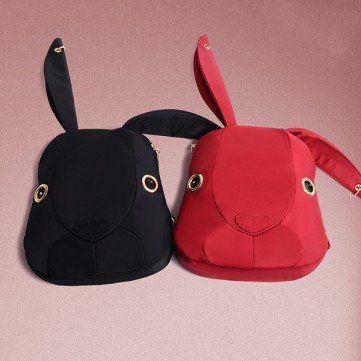 Cheap Cute Bags Lovely Cartoon Rabbit Bunny Nylon Shoulder Bags Backpack School Bags online - NewChic