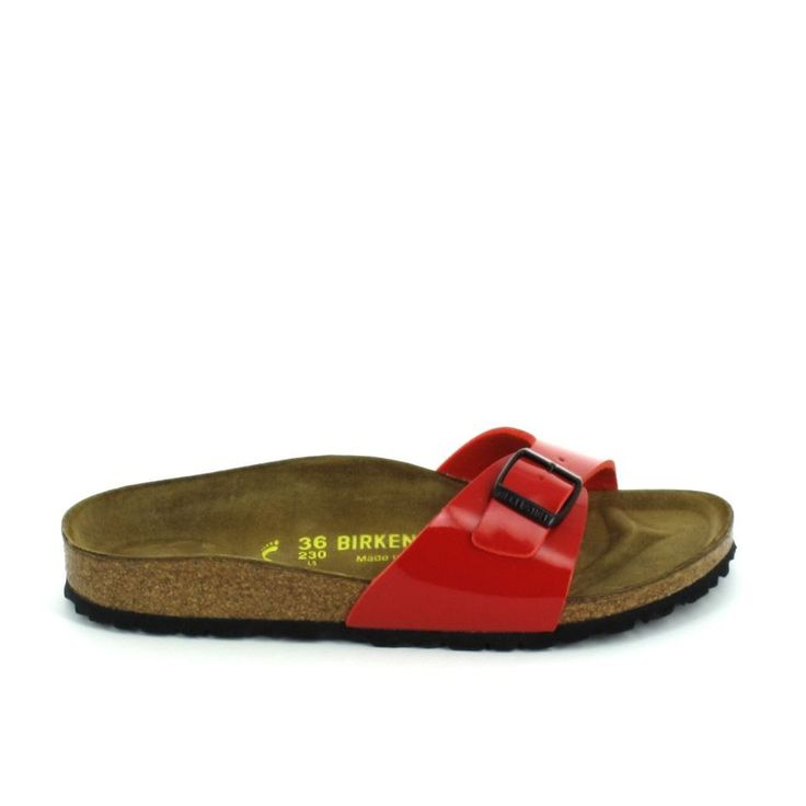 Sandales Avec Ceinture Brillante Madrid Serpent Orange Birkenstock liybu8U797