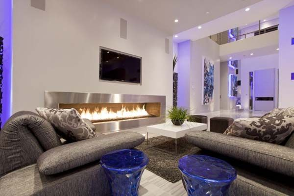 Art-Gallery-Style Collection of Spaces in The Hurtado Residence: Modern Living Rooms, Idea, Home Interiors, Living Rooms Design, Fireplaces, Design Interiors, Modern Interiors, Design Home, Modern House