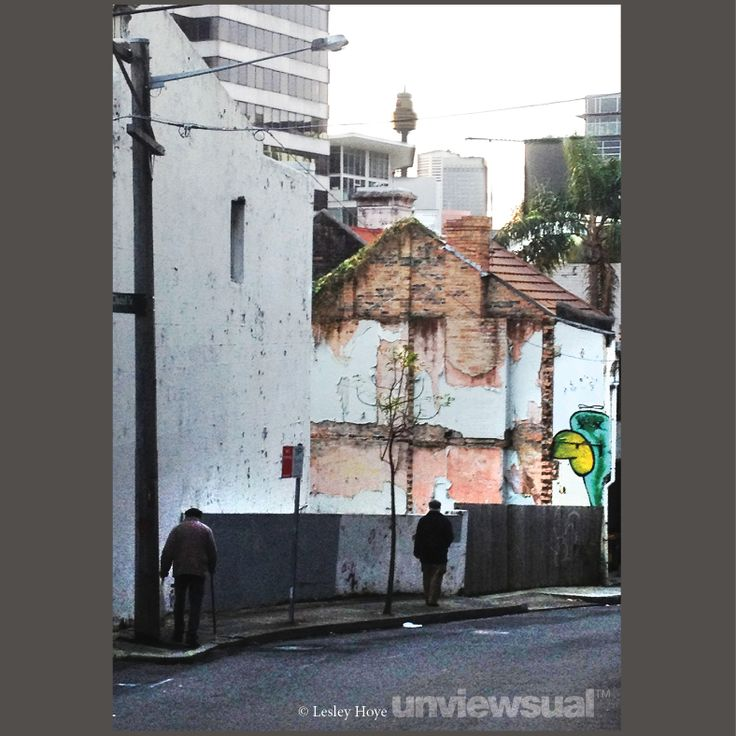 I'd just been to see Death of a Salesman, which left me feeling a bit dark and brooding. I thought the promise of the bright city lights in the distance versus the reality of the dingy street reflected the play quite well. 4.49pm, 7 July 2012, from Belvoir Street, Surry Hills ©Lesley Hoye