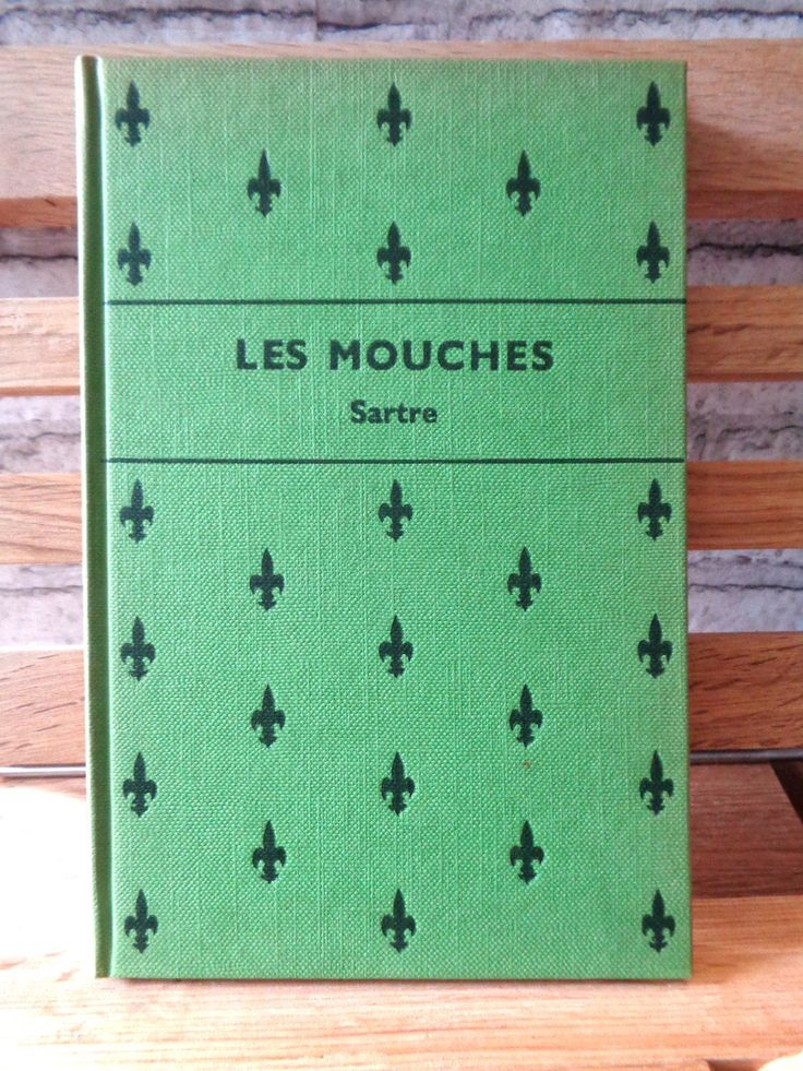 Vintage book Les Mouches The Flies Jean-Paul Sartre French Language 1960s green hardback book French play Electra myth by TrooperslaneBooks on Etsy