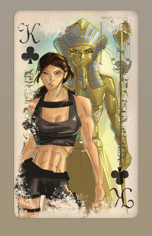 Lara Croft Deck - King by jwebster45206 on DeviantArt