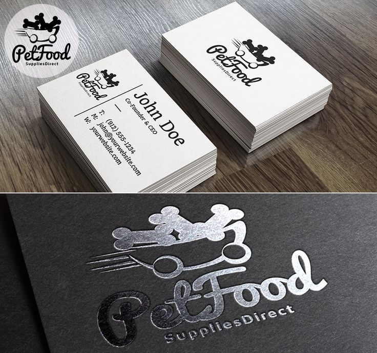 Playful logo design for a pet food delivery company
