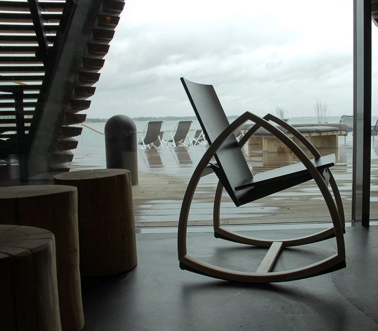 Rocking away in nordic design style. Seaside relaxation clearing our minds at Löyly in Helsinki. www.rockforpeace.me.