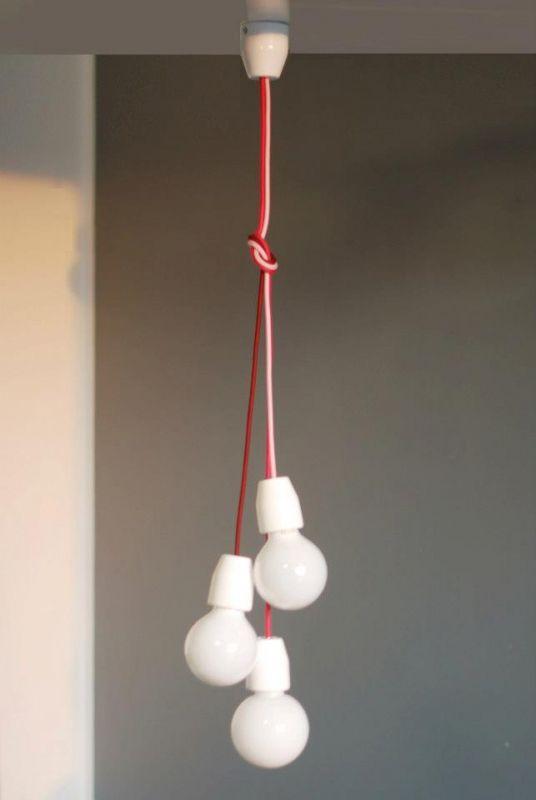 3 ágú tilka kerámia minimál lámpa textilkábellel