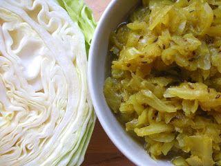 anka-weganka: Słodka kapusta curry
