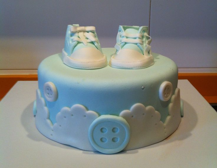 Tarta zapatos de bebé