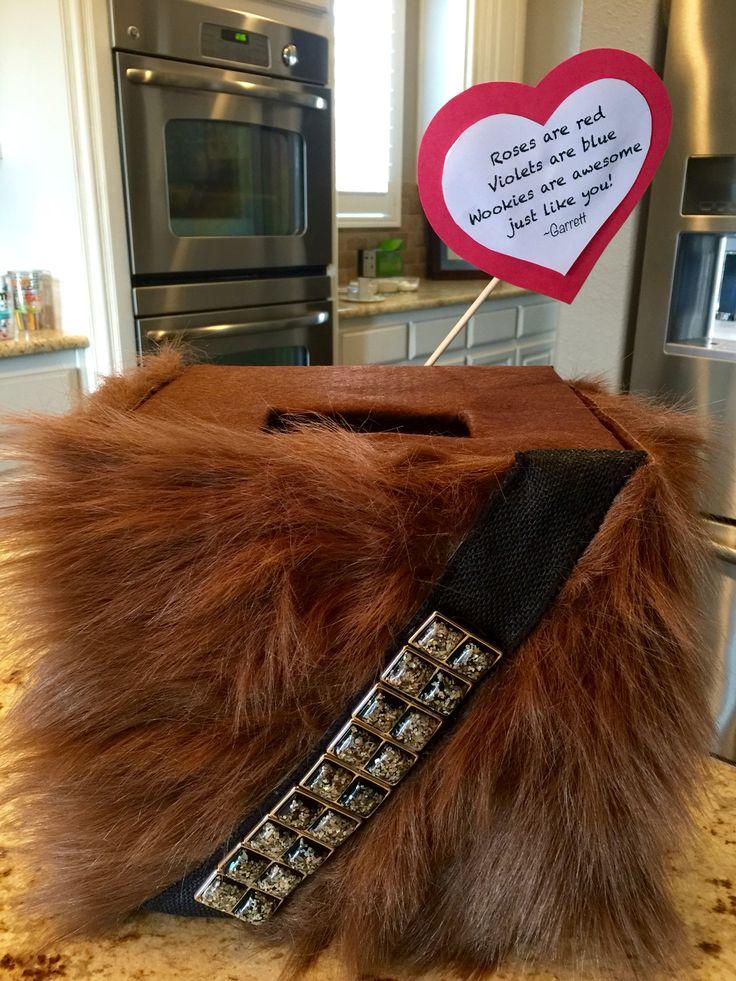 Chewbacca Wookie Valentines Box Holiday Valentines
