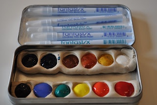 homemade watercoloring set by One Golden Apple