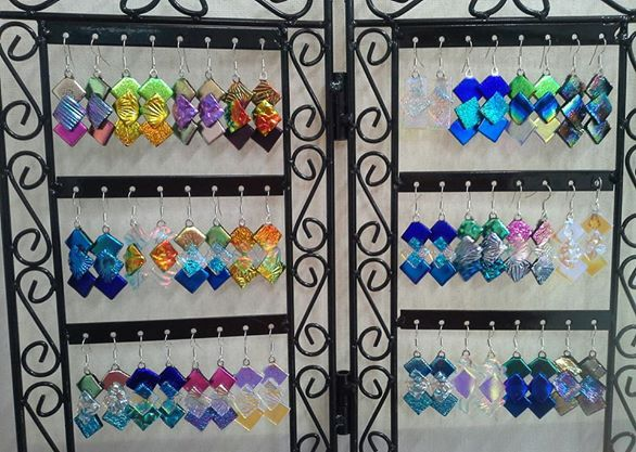 Glass Earrings from The Glass Studio Tamborine Mountain