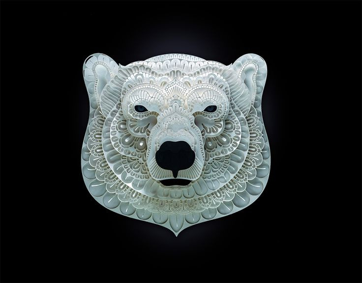 patrick cabral's intricate papercuts raise awareness for vulnerable species