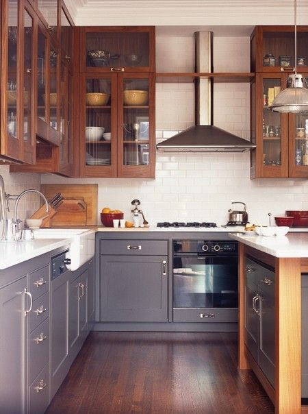 17 best ideas about two toned kitchen on pinterest two for Kitchen cabinets 2 tone