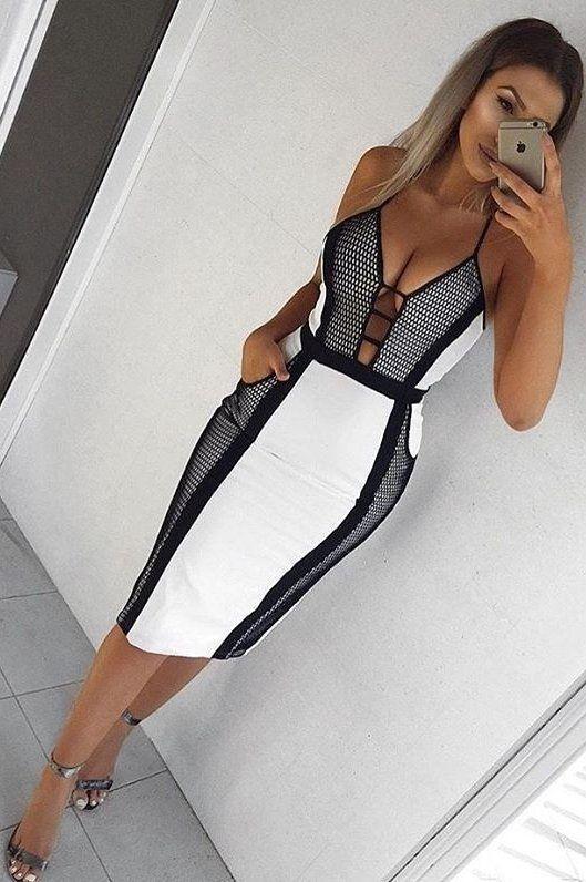 #winter #fashion //  Black & White Dress // Sandals