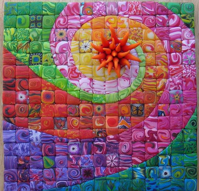 la maravillosa idea de usar mosaico teselas y vidrio para On vidrio para mosaico