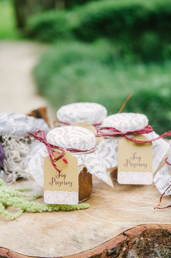 fig preserve favors // photo by Catherine Guidry // http://ruffledblog.com/southern-charm-wedding-ideas