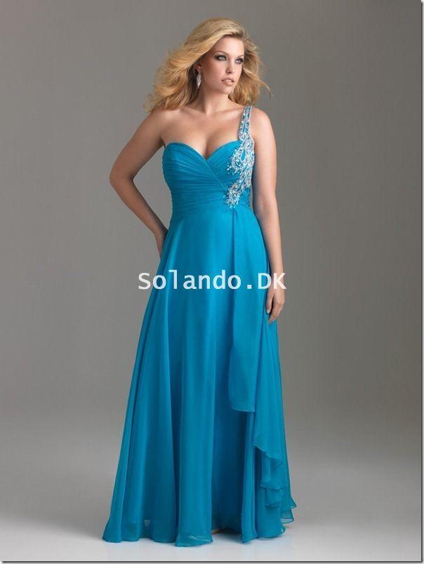 Turquoise Store Størrelser Kjoler