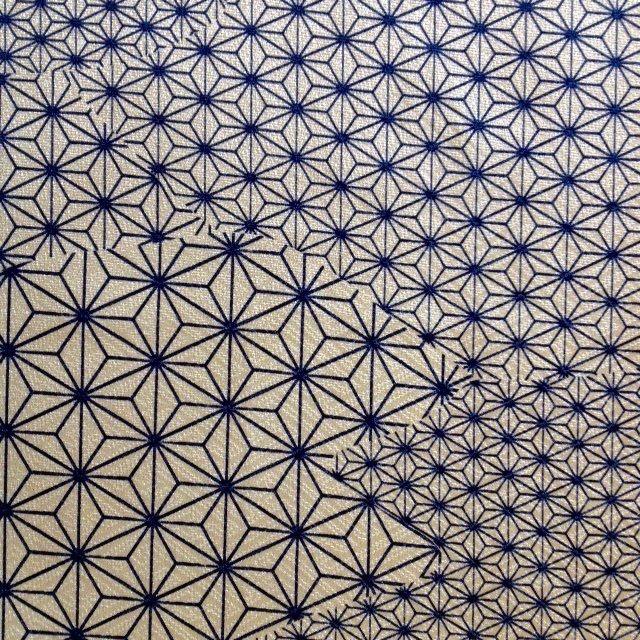 Japan Made - Kimono Fabric - Asanoha Pattern Silk