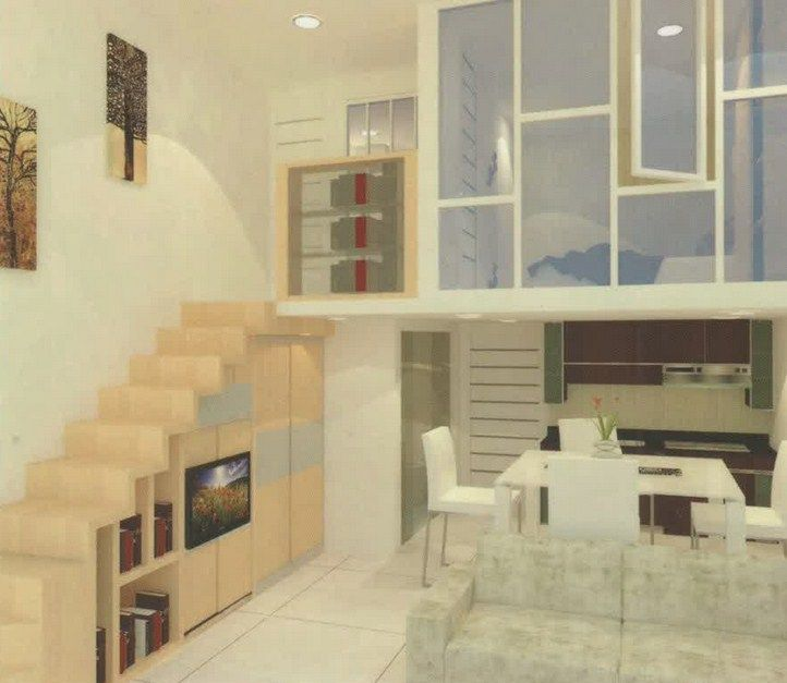 desain apartemen 2 lantai terbaru