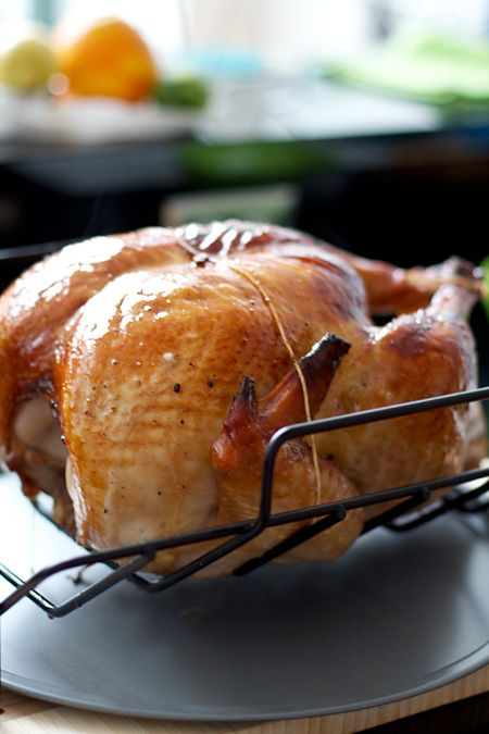 The guys will love this one... Malt-Beer-Brined Turkey with Malt Glaze and Giblet Gravy for #Thanksgiving