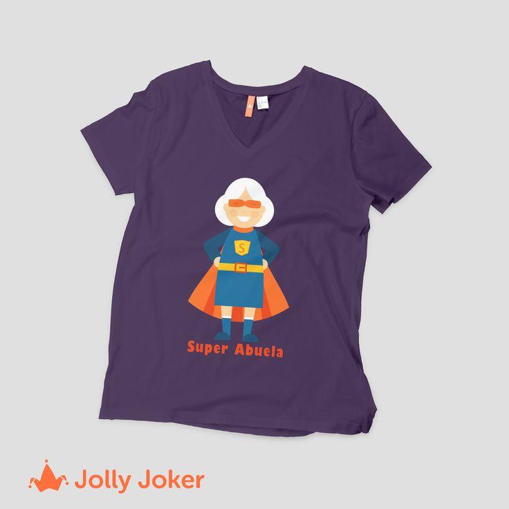 Tu abuela! Tan especial como tu mamá! Enamorala con una camiseta increíble, diseñala y añádele el color y el texto que tu quieras a tu camiseta personalizada del día de la madre! A ella le va a encantar :D