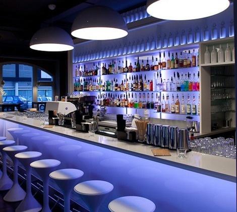 Innenarchitektur Bar Kunstgütli Baden, Schweiz