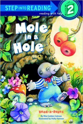 Mole in a Hole is a great picture book because it is a rebus book which means that there are words but in some parts of the story a word is replaced with a picture. This is great for kids who are transitioning from picture books to reading words because they can still use pictures to read a story. The advantage of this book is that when an adult is reading the book they can point to the picture that follows and the kids could say the word and be a part of the story. By Rita Golden Gelman