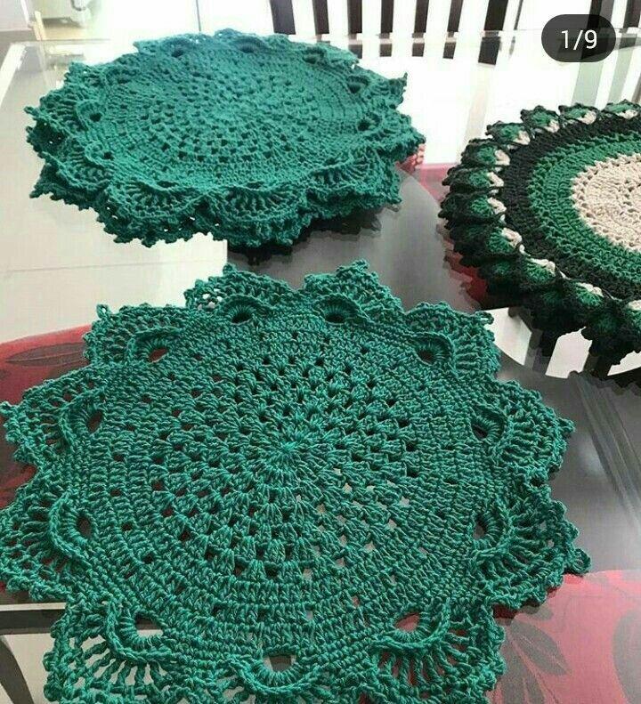 Descubra Como Fazer Croche Em Casa Em 2021 Sousplat Croche Sousplat Croche Barbante Sousplast Croche