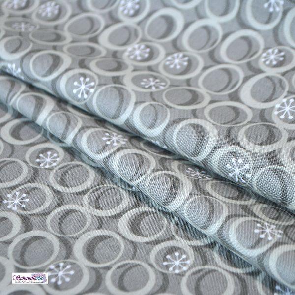 Baumwollstoffe Meterware Cosmopolitain Grau Kreise von Schatulleria-Ohrt auf DaWanda.com