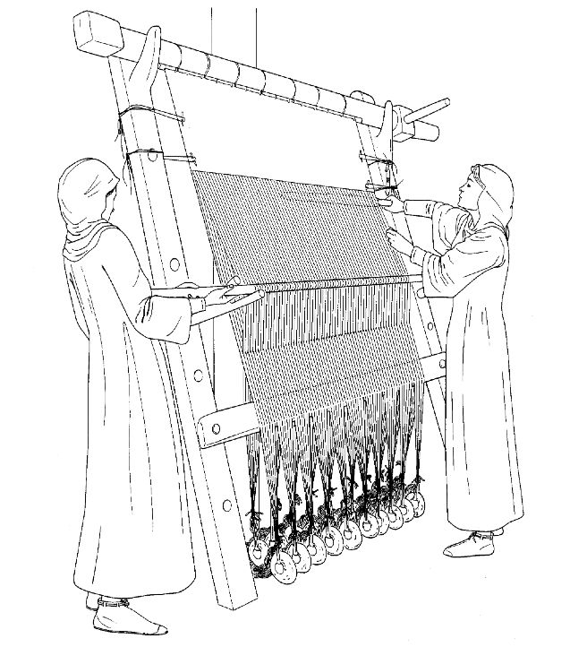 Viking Warp-weighted loom