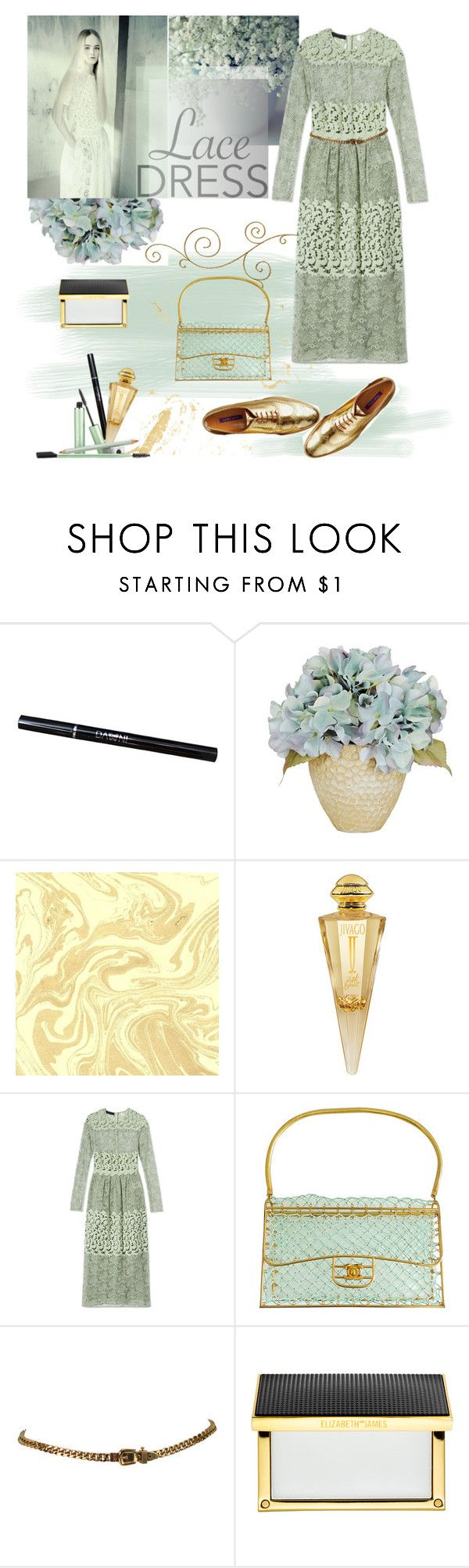 """lace dream"" by iraavalon ❤ liked on Polyvore featuring mode, Jivago, Burberry, Chanel, Elizabeth and James, Mally et lacedress"