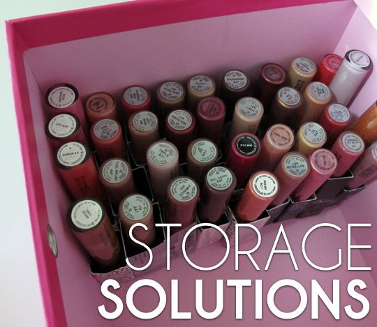 I have always wanted to find a good way to store lip gloss and other small make-up accessories! This is so cool and they give you a step-by-step guide for how to make it!