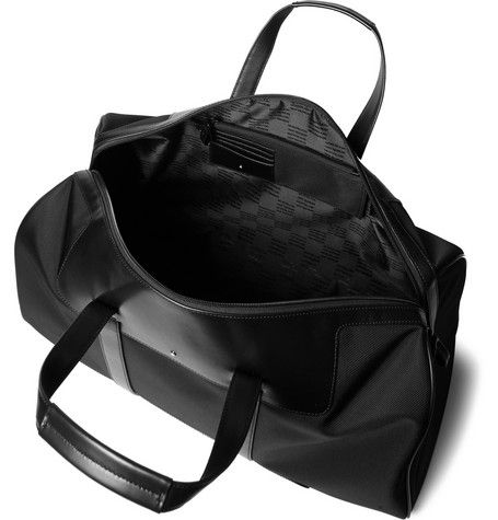 MontblancNightflight Leather-Trimmed Canvas Holdall