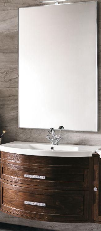 #Eban Gloria #107 Base 90 cm, #washbasin and #mirror | im Angebot auf #bad39.de 1241 Euro/Set | #Badmöbel #Bad #Badezimmer #Einrichtung #Ideen #Italien