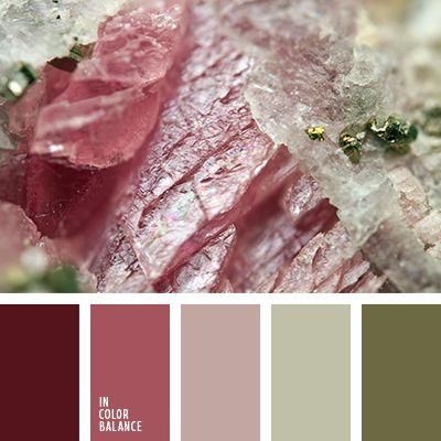 бледно-розовый, бордовый, винтажные цвета, оттенки болотно-зеленого, оттенки светло-розового, подбор пастельных тонов, светло-оливковый, темно-болотный цвет, цвет оливки, цвет хаки.