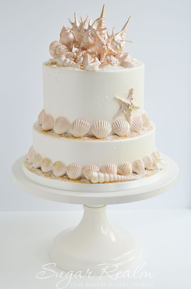 Sugar Seashells Cake Decorating